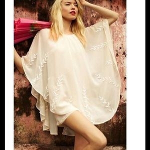 Free people pointed cape dress, beaded
